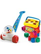 Fisher Price Brilliant Basics Corn Popper And Babys First Blocks