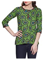 Cotton Printed Kurti Indian Casual Dresses For Women ,W-CPK46-1819,Size-46 Inch,GREEN