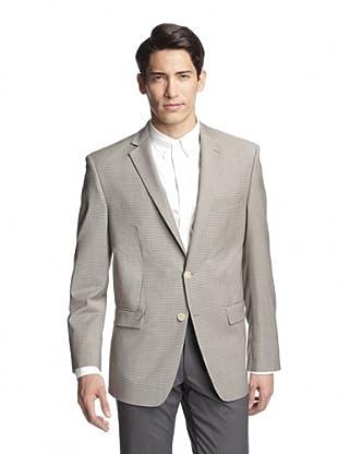 Calvin Klein Men's Malik Two Button Mini Grid Sportcoat (Cream)