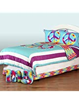 One Grace Place Terrific Tie Dye Twin  Bedding Set, 6 Piece