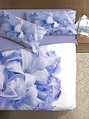 Ipersan Bettbezug Parure Copripiumino Fotografico Piazzato Fine Art Disegno Giacinto