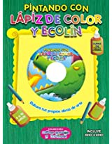 PINTANDO CON LAPIZ DE COLOR Y ECOLIN (Spanish Edition)
