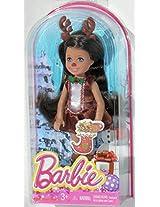 Barbie Chelsea 2014 Christmas Brunette Doll in Reindeer Costume