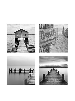 Set 4 Lienzos Beach