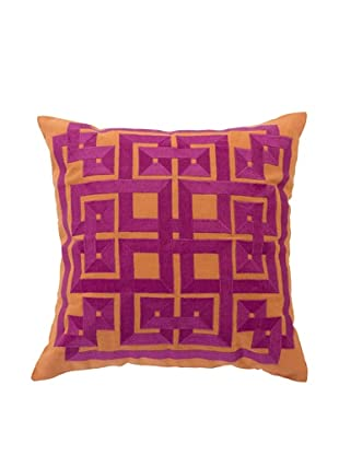 Surya Geometric Throw Pillow (Jaffa Orange)