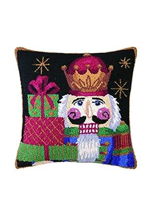Peking Handicraft Nutcracker with Presents Throw Pillow, Multi