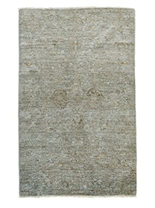 Darya Rugs Ziegler One-of-a-Kind Rug, Green, 4' x 6' 1