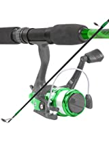 South Bend Worm Gear Fishing Rod and Spinning Reel Combo, Green