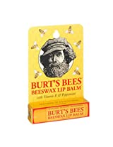 Burt's Bees Beeswax Lip Balm with Vitamin E & Peppermint, 0.15-Ounce Tubes (Pack of 6)