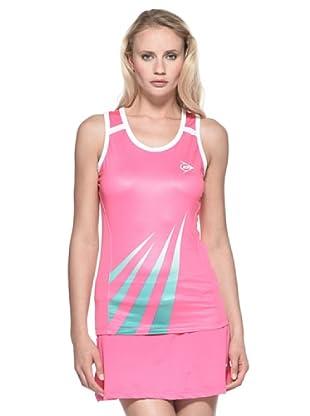 Dunlop Abbigliamento Ladies - Tank Top (Rosa/Bianco)