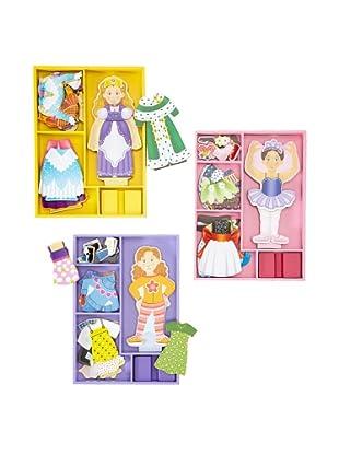 Melissa & Doug  Princess and Friends Magnetic Dress-Up Bundle