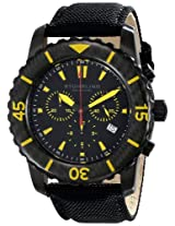 Stuhrling Original Men's 3268.03 Aquadiver Felucca Analog Display Swiss Quartz Black Watch