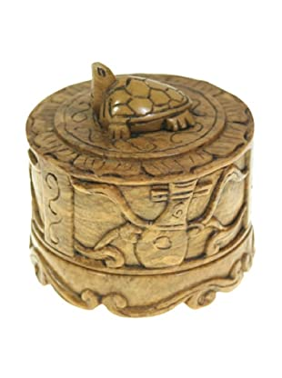 The Niger Bend Small Round Soapstone Box With Turtle Top
