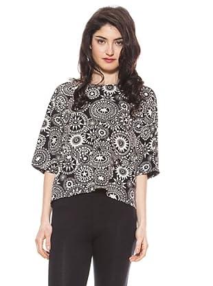 La Casita de Wendy Camiseta Triángulos (negro)