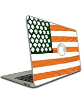 Macbook Air or Macbook Pro (13 inch)- Vinyl Removable Skin - St. Patrick's Day - Irish American Flag