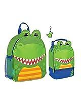 Stephen Joseph Boys Mini Dinosaur Backpack, Lunch Pal and Zipper Pull - Toddler Backpacks