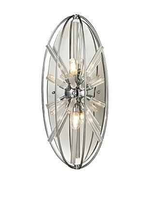 Artistic Lighting Twilight Collection 2-Light Sconce, Polished Chrome