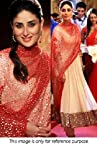 Bollywood Replica Kareena Kapoor Georgette Anarkali Suit In Beige and Red Colour VND 17