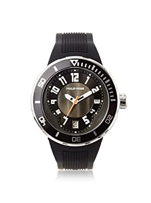 Philip Stein Men's 34-BB-RB Extreme Black Rubber Watch
