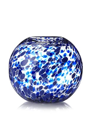 Worldly Goods Speckled Fishbowl Vase, Cobalt