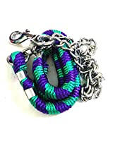 Dog Chain With Rope Handle Big (Green)