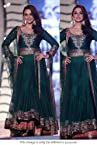 Bollywood Replica Preity Zinta Silk Suit In Green Colour NC418