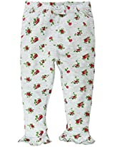 Legging with Bow Applique and Frill Details - Multi Coloured (0-6 Months)