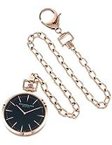 Stuhrling Original 815.03 Montres de Poche Pedigree Swiss Quartz Rose Tone Pocket Watch