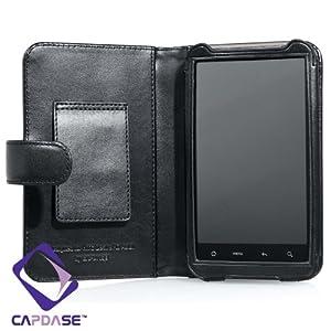 【クリックで詳細表示】CAPDASE 日本正規品 SoftBank 001HT / HTC Desire HD 専用 よこ開き Bi-fold ブックタイプ 本革製ケース ブラック WCHCA9191-5001