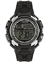 Calypso Black PU Digital Men Watch K5595 1
