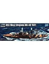 Trumpeter USS West Virginia BB48 Battleship 1941 Model Kit (1/700 Scale)