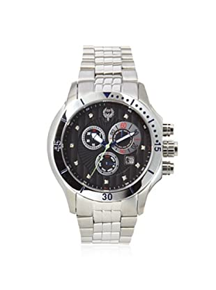 Brillier Men's 13-02 Fortress Black Stainless Steel Watch