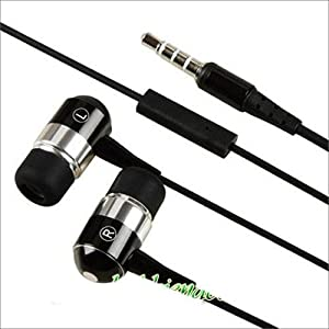 High Quality Mega Bass Aluminium Metal Body In Ear Soft Earbud Hands-Free Earphones Headset Headphones with Microphone Mic For Nokia C2-00, C3, C5, C5-03, C6, C7, E5, E6, E63, E7, E72