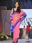 Amisha Patel Net Pink Bollywood Style Saree