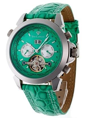 Yves Camani Herrenarmbanduhr XL Worldtimer Green