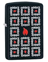 Zippo Square Logo Design Lighter (Black Matte)