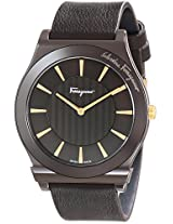 Salvatore Ferragamo Mens FQ3030013 1898 Brown Ion-Plated Coated Stainless Steel Leather Watch