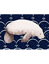 Oopsy daisy Martha The Manatee Stretched Canvas Wall Art by Meghann O'Hara, 14 by 10-Inch