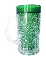 Stylish Beer Mug Green Colour Freezing Gel for Juice, Beer, Soft Drinks, Water, Perfect Mugs