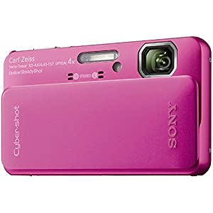 Sony Cyber-Shot DSC-TX10 16.2 MP Waterproof Digital Still Camera with Exmor R CMOS Sensor 3D Sweep Panorama and Full HD 1080/60i Video (Pink)