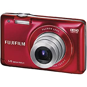 Fujifilm FinePix JX500 14MP Point-and-Shoot Digital Camera (Red) with SD Card, Carry Case