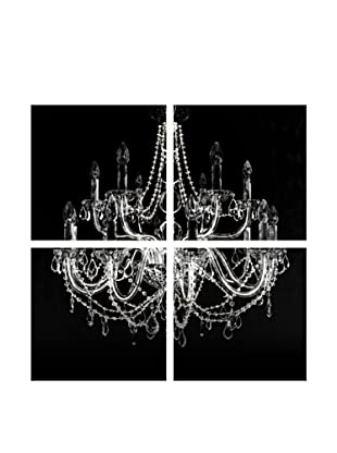 Art Addiction Black Chandelier, Quadriptych
