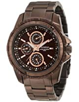 Armitron Men's 20/4739BNBN Rosegold-Tone Accented Brown Ion-Plated Multi-Function Bracelet Watch