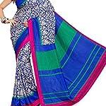 Multi Printed malgudi Fashion Art Silk Sari With blouse piece