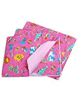Baby Bucket Multi Purpose Changeable Mat Set Of 3 + 1 (Pink, Lion)