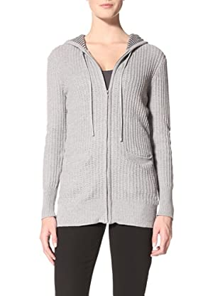 Suss Knitwear Women's Jessica Lined Thermal Hoodie (Heather Grey)