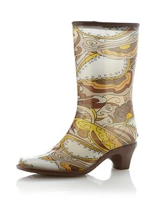 däv Women's City Rain Boot (Dark Brown)