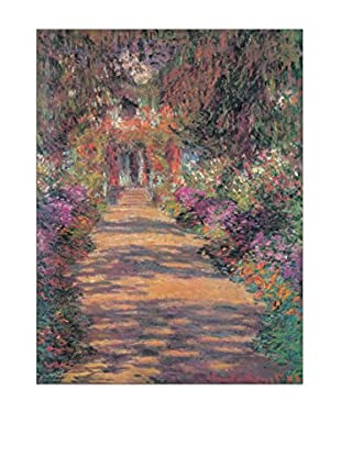 Artopweb Panel Decorativo Monet Une Allée Du Jardin De Monet, Giverny 80x60 cm Multicolor