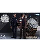 Hot Toys Ht The Dark Knight Rises John Blake And Jim Gordon With Bat Signal 1/6 Scale Mms275