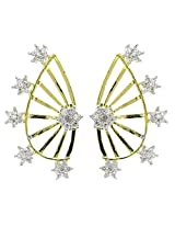 YouBella Gold Plated American Diamond Ear cuffs Earrings
